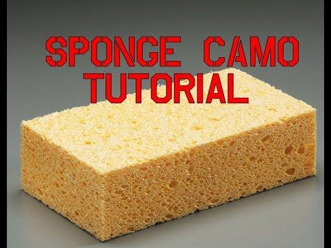 Sponge Camo Painting Tutorial How To