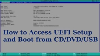 UEFI Boot | How to Boot from CD