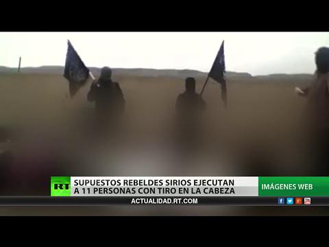 Video: Brutal ejecución de personas desarmadas por terroristas en Siria