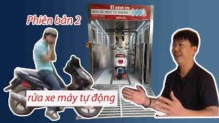 Rửa xe máy tự động - Bản tin công nghệ VTV2 - Công nghệ rửa xe máy tự động đầu tiên của Việt Nam