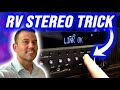 RV STEREO TRICK -  Easy Sound System UPGRADE Tip for Your Travel Trailer! 🔈🔉🔊