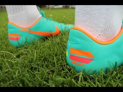 Nike Mercurial Vapor 8 VIII ACC - Mint/Orange (Ronaldo Boot) - (11teamsports.de) - TSU Unboxing