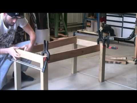 S&SCUSTOMS-WOODWORK BUILD A COFFEE TABLE USING SCRAP WOOD PART 1 { LEGS}