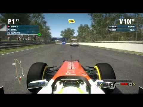 Gameplay F1 2012 - Safety car