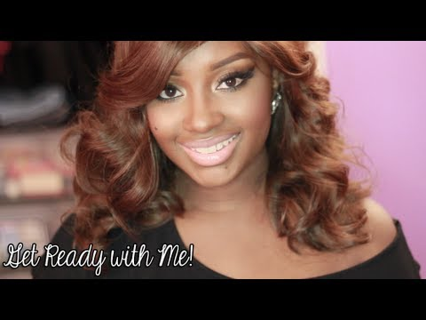 Get Ready with Me   Sultry Cat Eye Makeup + Hot Roller Set Hair!
