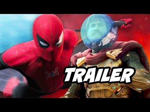 Spider-Man Far From Home Trailer - Avengers Endgame and Mysterio Easter Eggs Breakdown thumbnail