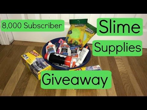 8,000 Subscriber Slime Supplies Giveaway!!! CLOSED!!!!!