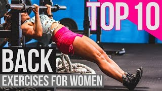 The 10 BEST Back Exercises for Women (STRONG and SEXY)