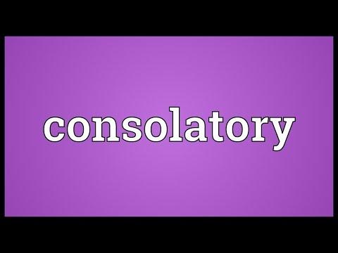 Header of consolatory
