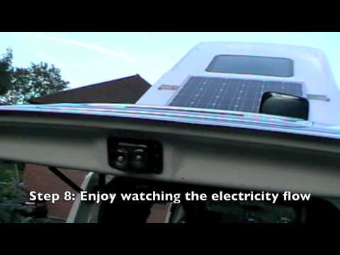 How to install an AKT Solar panel on a caravan - Director's Cut