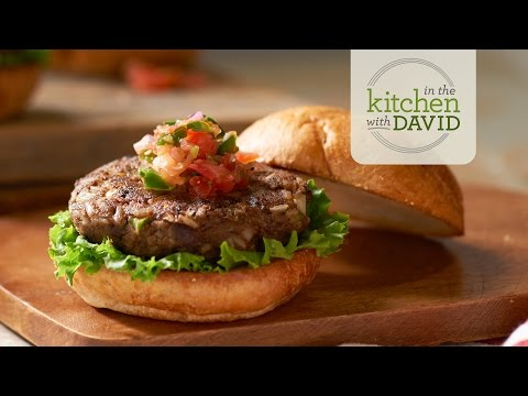 How to Make a Black Bean Burger with Fresh Salsa