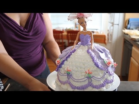 Barbie Doll Cake How to decorate a Barbie Doll/Princess Cake with icing