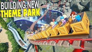 Building MEGA THEME PARK, Custom ROLLER COASTERS & Park Build | Planet Coaster Gameplay