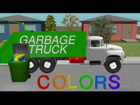 Color Garbage Truck - Learning for Kids