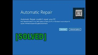How to Fix Automatic Repair Loop in Windows 10 - Startup Repair Couldn't Repair Your PC [2019]