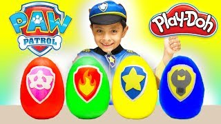NEW Paw Patrol Play Doh Surprise Eggs Toys for Kids Chase Marshall Rubble Kids Costume Cars Kid Fun
