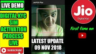 Jio digital kyc live sim activation full process first time on youtube