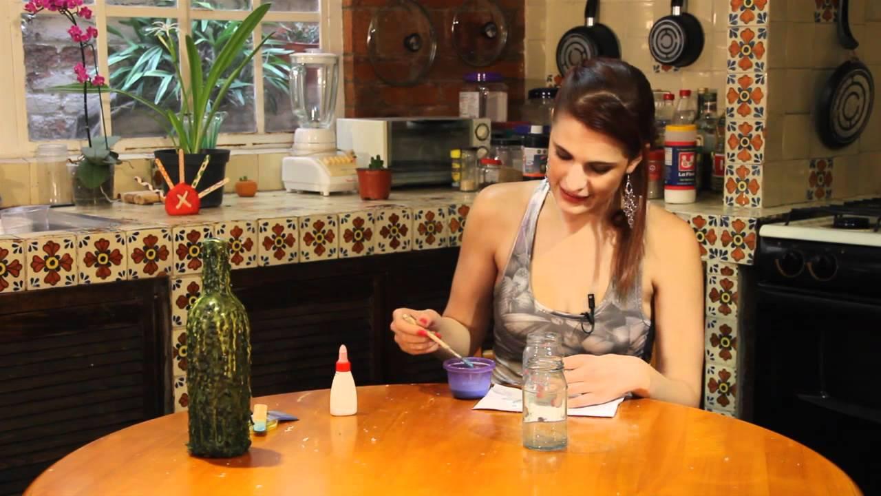 Botella De Vidrio Decorada Con Cera Youtube | MEJOR