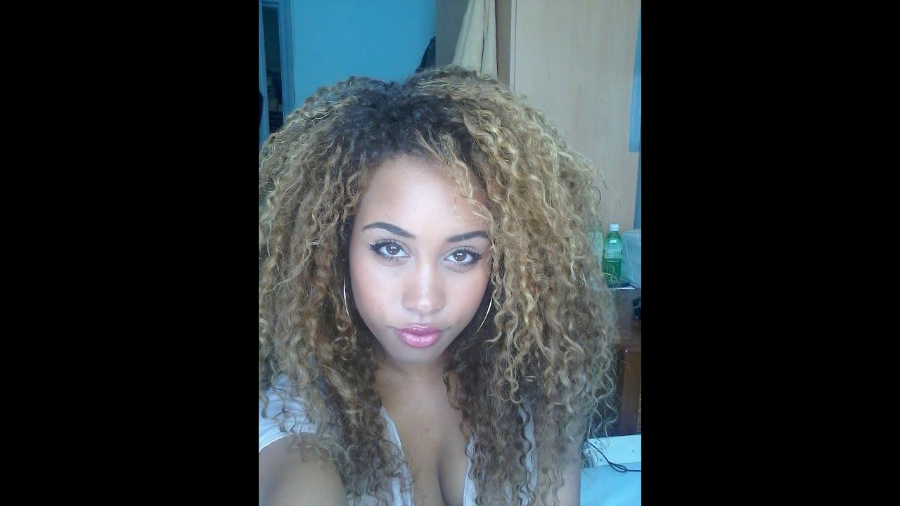Curly hair braids pinterest