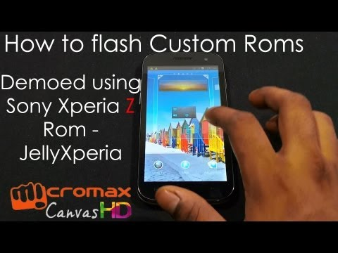 Micromax Canvas HD A116: How to Flash Custom ROMs (demoed with Xperia Z ROM JellyXperia)