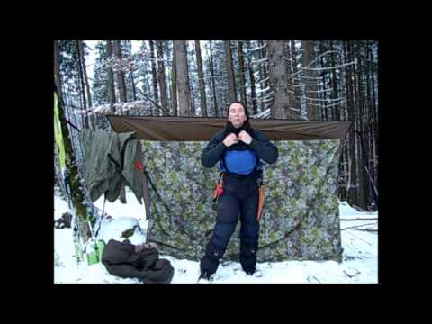 Alpine Winter Hammock - The solo girly bushcraft way