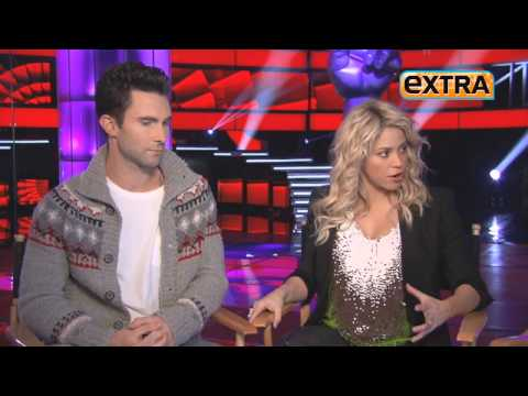 "Shakira and Adam Levine ""The Voice Coaches"""
