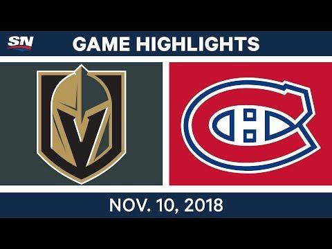 NHL Highlights | Golden Knights vs. Canadiens – Nov. 10, 2018