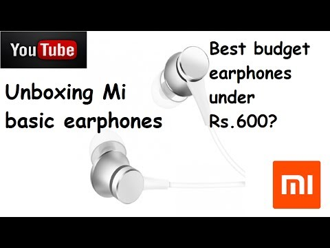 [UNBOXING] Mi in-ear basic headphones unboxing and review | Mi earphones Matte Silver Rs599/-