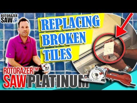 DIY Home Repair Projects   Cracked or Broken Ceramic Tile Replacement Shower 🚿 Bathroom 🛁 & Floor