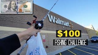 $100 Walmart Fishing Challenge!! (Surprising!)