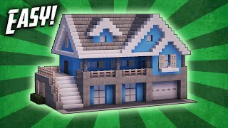Minecraft: How To Build A Suburban House Tutorial (#6)
