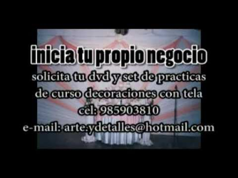 Curso decoraciones con tela youtube for Telas para decorar salones