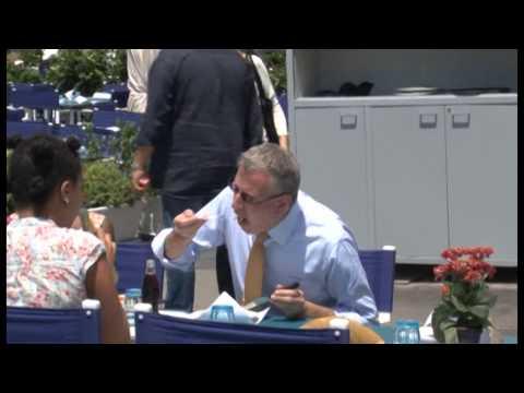 Napoli - Bill De Blasio, il sindaco di New York sceglie la pizza -2- (23.07.14)