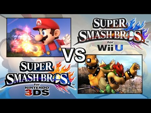 Super Smash Bros. 4 3DS vs. Super Smash Bros. 4 Wii U  (Gameplay Comparison)