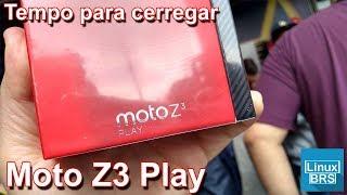 Motorola Moto Z3 Play - Tempo para carregar de 11% até 100% (o mais rápido)