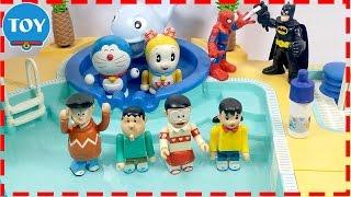 đồ chơi Doremon - Nobita bị hoán đổi thân xác khi đi bơi cùng xuka