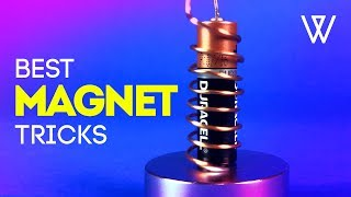 10 SIMPLE MAGNET TRICKS!