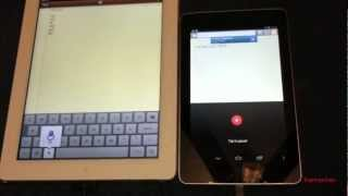 Google Nexus 7 VS  iPad 3 head to head comparison