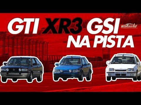 DESAFIO GOL GTi X KADETT GSi X ESCORT XR3 - VOLTA RÁPIDA #6   ACELERADOS