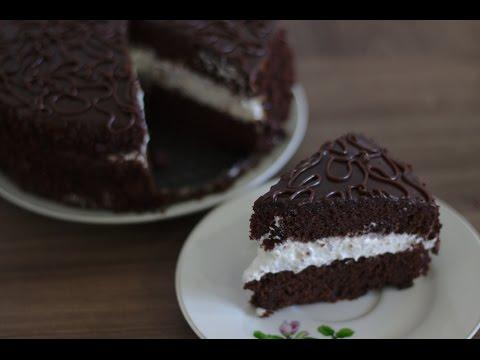Шоколадный шифоновый торт (Домашний кулинар)