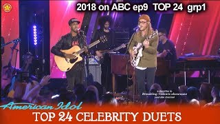 "Dennis Lorenzo and Allen Stone Duet ""Unaware"" JUST WOW!! Top 24 Celebrity Duets American Idol 2018"