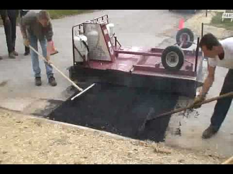 EZ Pavement Repair Infrared Asphalt Repair Demo For American Water
