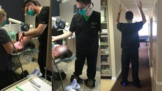 Dentist Pulled Tooth While Standing on a Hoverboard