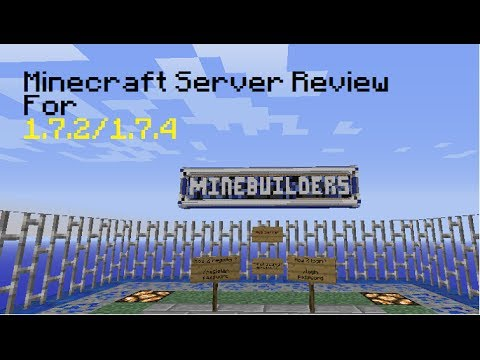 Minecraft Server Review (1.7.2/1.7.4) : Minebuilders