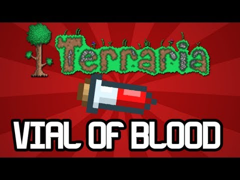 Terraria - Vial of Blood / Pet Bat item! (Terraria Xbox 360 / PS3 Console edition)
