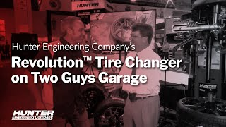 Hunter Revolution Tire Changer on Two Guys Garage at SEMA 2015