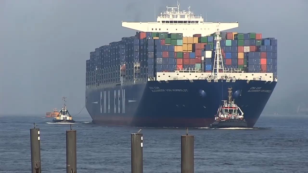 Cma Cgm Alexander Von Humboldt Ex Largest Container Ship