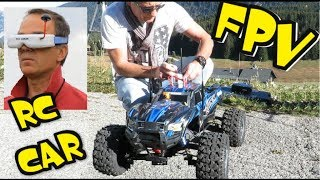 RC CAR 4X4 FPV - VIEWS FROM QUADRI FPV RACER - TRAXXAS MONSTER TRUCK GLIERES