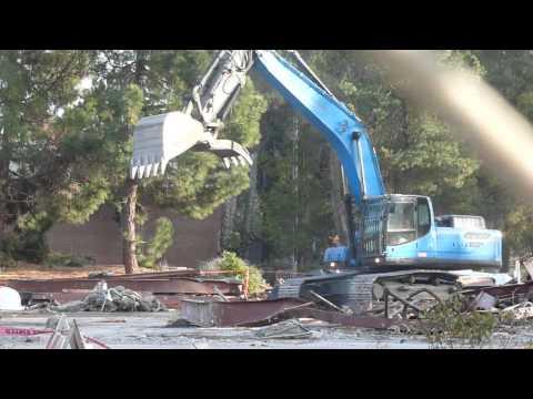 Demolition at Contra Costa College 12/30/13