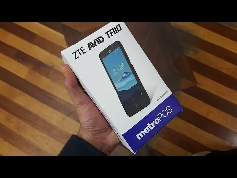ZTE Avid Trio Unboxing and First Look For Metro Pcs\T-mobile